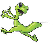 Running Lizard Illustration Royalty Free Stock Images