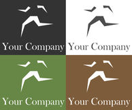 Running logo Stock Image