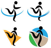 Running logo collection Stock Images