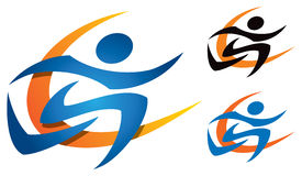 Running Logo. A logo icon with a person running or jogging royalty free illustration