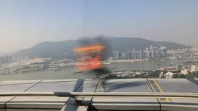 Running on Macau Tower stock video footage