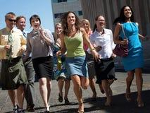 Running makes us happy! Royalty Free Stock Image