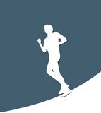 Running Male white paper silhouette Royalty Free Stock Photo