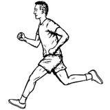 Running man. Illustration of a man in shorts running vector illustration
