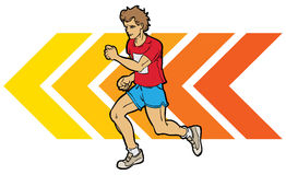 Running Man. A colour illustration of a man running Royalty Free Stock Photography