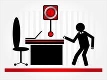 Running man. Running black man to office Stock Image