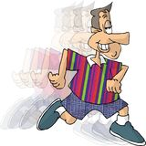 Running man. This illustration that I created depicts a man running Royalty Free Stock Photography