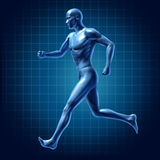 Running man active runner energy diagram medica Royalty Free Stock Images