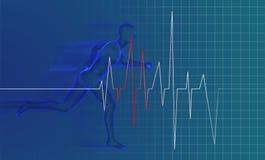 Running man - anatomy Stock Image