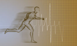 Running man - anatomy Stock Photo