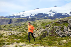 Running man athlete exercising trail runner Royalty Free Stock Photography