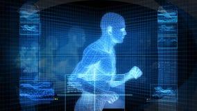 Running Man (Bionic Science Tech) Stock Photos