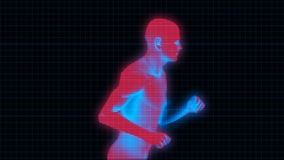 Running Man (Bionic Science Tech) stock footage