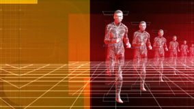 Running Man (Bionic Science Tech) stock video