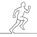 Running man Royalty Free Stock Image