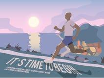 Running man fitness poster Royalty Free Stock Photos