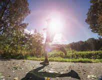 Running man. Health and fitness outdoor concept stock photography