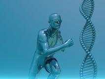 Running man and helix vector illustration