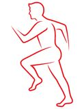 Running man icon Stock Photo