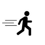 Running man icon Royalty Free Stock Photography