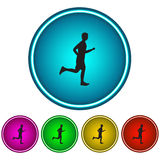 Running man. Icon. Vector Stock Photo