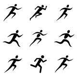 Running Man Icons Stock Photo