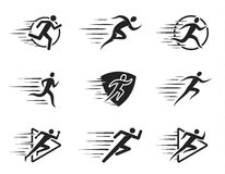Running Man Icons with Motion Trails Royalty Free Stock Image