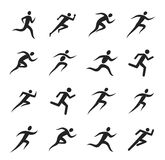 Running Man Icons Stock Images