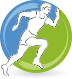 Running man. Illustration art of a running man with isolated background Royalty Free Stock Images