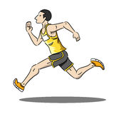 Running man. Illustrator of running man in marathon Royalty Free Stock Photos