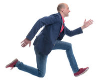 Running man isolated on white Stock Photography