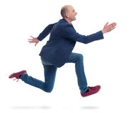 Running man isolated on white Royalty Free Stock Photography