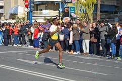 Running Man In Marathon Race Stock Photo