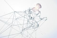Running Man,Network connection turned into. Running Man,Network connection turned into,  illustration Royalty Free Stock Images