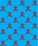 Running man pattern Stock Images