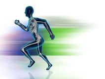 Running Man Posture Royalty Free Stock Photo
