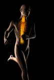 Running man radiography. On black Stock Photography