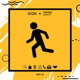 Running man, run icon. Element for your design Royalty Free Stock Images