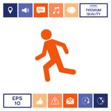 Running man, run icon. Signs and symbols - graphic elements for your design Stock Photography