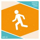 Running man, run icon. Signs and symbols - graphic elements for your design Stock Photos