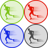 Running man, a running man icon Royalty Free Stock Photography