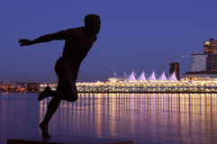 Running man sculpture in stanley park Stock Photography