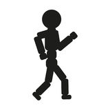 Running man sign illustration. Vector. Black icon on white background. Stock Photos
