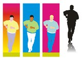 Running man silhouette Stock Photography