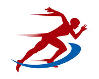 Running man silhouette Royalty Free Stock Images