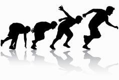 Running man silhouette Stock Image