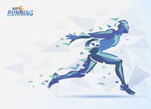 Running man, sport and competition background Stock Images