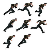 Running Man Sprite. Illustration of Running Man Sprite for Animation or Game Royalty Free Stock Images