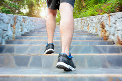 Running man on the stairs Stock Image