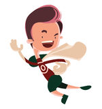 Running man superhero comic  illustration cartoon character Royalty Free Stock Photos